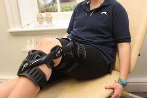 CTI knee brace fitting