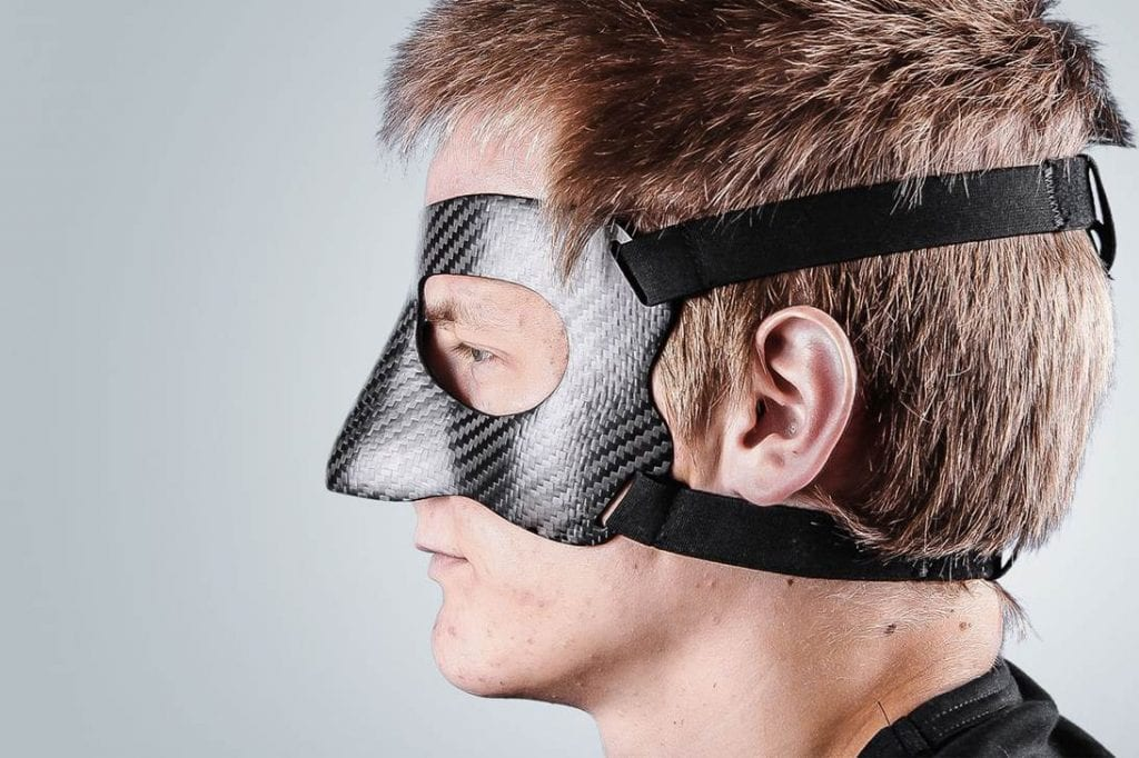 Protective face mask - side profile